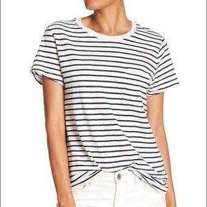 Madewell Tops - Madewell White Striped T-Shirt
